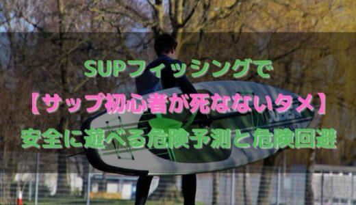 SUPフィッシングで【サップ初心者が死なないタメ】安全に遊べる、危険予測と危険回避