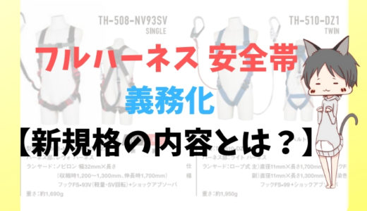 フルハーネス 安全帯 義務化【新規格の内容とは?】