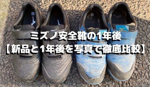 ミズノ安全靴の1年後【新品と1年後を写真で徹底比較】